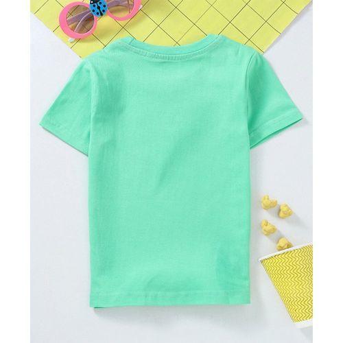 Babyhug Half Sleeves Tee HD Print - Green