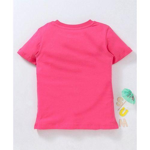 Kookie Kids Half Sleeves Tee Love Print - Pink