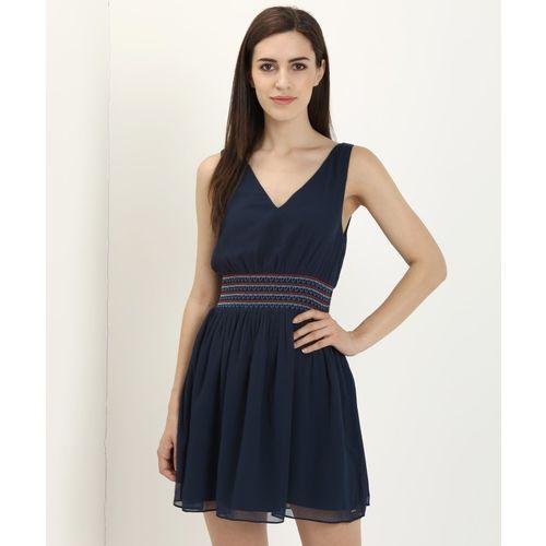 Tommy Hilfiger Women Empire Waist Blue Dress