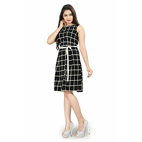 New Ethnic 4 You Black Cotton Sleeveless Dresses