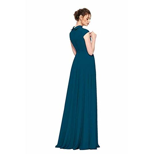 FIBREZA Women's Georgette Flared One Piece Maxi Dress