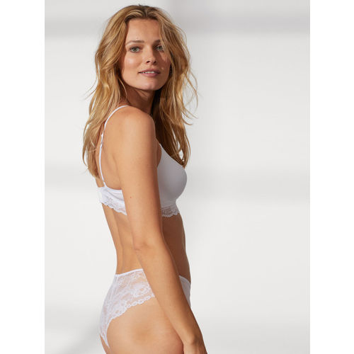 H&M Women White Solid Microfibre Hipster Briefs
