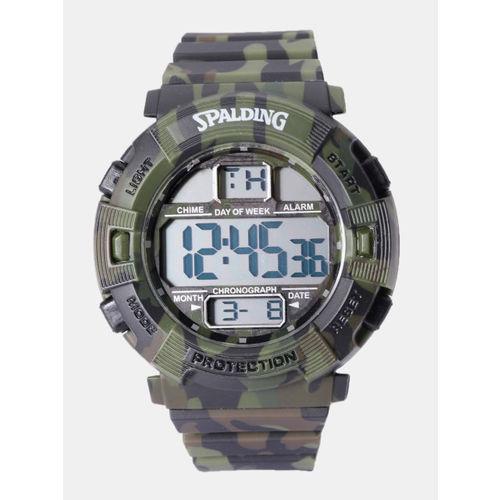 Spalding Men Olive Green Digital Chronograph Watch SP118 D
