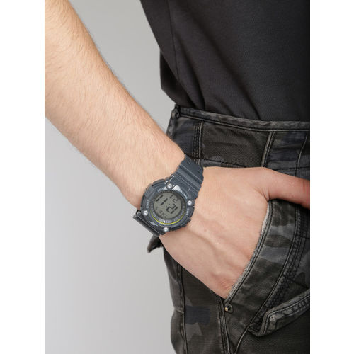 Sonata Ocean Series Men Charcoal Grey Digital Watch 77042PP02