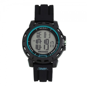 Sonata Ocean Series Men Black Digital Watch 77037PP04