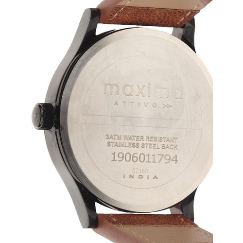 maxima Men Black Analogue Watch O-57160LMGB