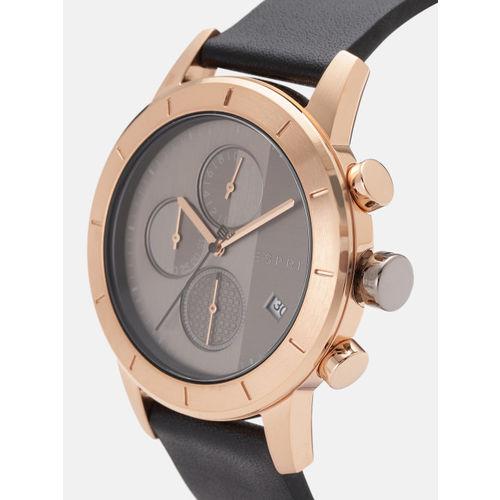 ESPRIT Men Charcoal Grey Chronograph Analogue Watch ES1G108L0045