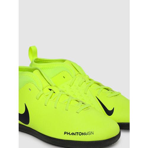 Nike Kids Fluorescent Green PHANTOM VSN CLUB DF IC Football Shoes