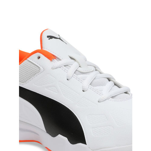 Puma Unisex White Leather Tenaz Jr Badminton Sports Shoes