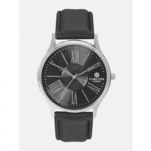 Carlton London Men Black Analogue Watch CG035SBLB