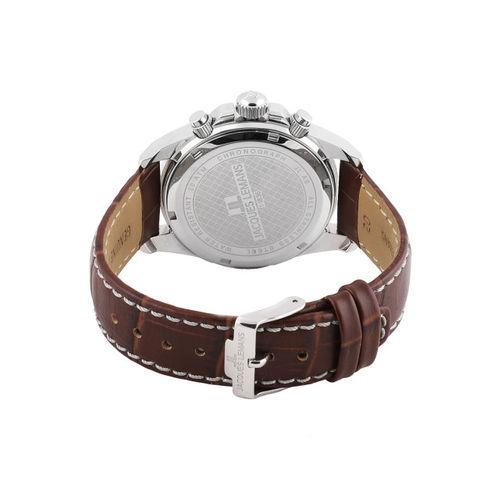 Jacques Lemans Men Silver-Toned Chronograph Watch 1-1836E