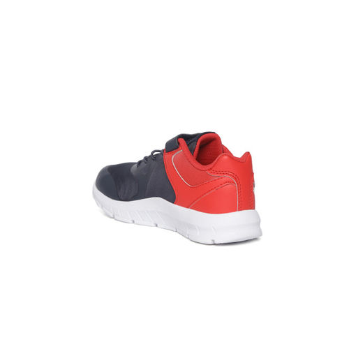 Reebok Kids Navy Blue & Red Colourblocked Rush Running Shoes