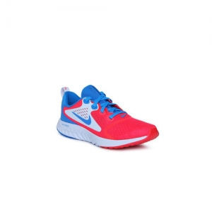 Nike Boys Red & Blue LEGEND REACT HEAT CHK GS Running Shoes