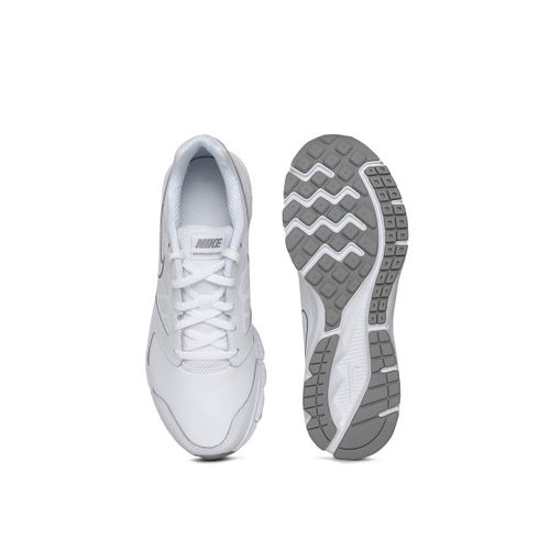 Nike Boys White DOWNSHIFTER 6 LTR (GS/PS) Running Shoes