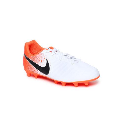 Nike Unisex White & Orange JR LEGEND 7 CLUB FG Football Shoes