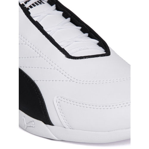 Puma Unisex White BMW MMS Kart Cat III JR Running Shoes