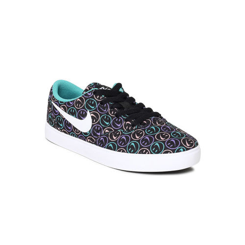 Nike Unisex Multicolored Printed SB CHECK SOLAR CNVS NK DAY (GS) Skateboarding Shoes