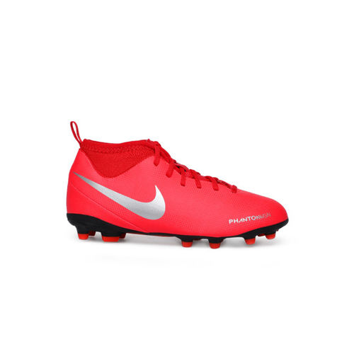 Nike Kids Red PHANTOM VSN CLUB DF FG/MG Football Shoes
