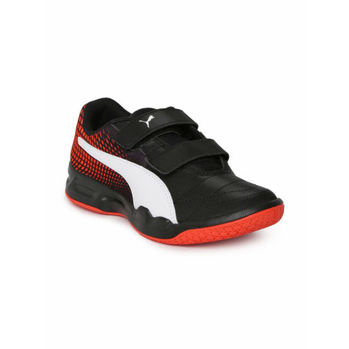 Puma Kids Black Veloz Indoor NG V Jr Badminton Shoes