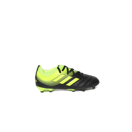 ADIDAS Boys Green & Black COPA 19.3 Firm Ground Football Shoes
