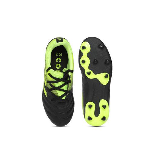 ADIDAS Boys Green & Black COPA 19.3 Firm Ground Football Shoes
