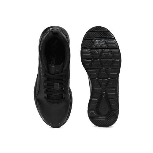 Puma Kids Black Flex Essential SL Jr Running Shoes