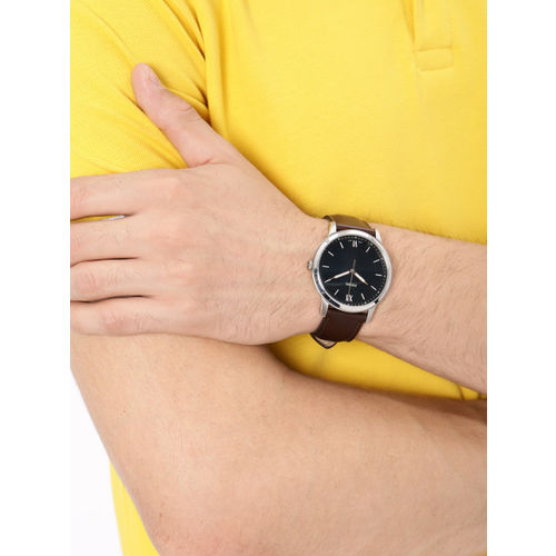 Fossil Men Black Solid Analogue Watch FS5464I