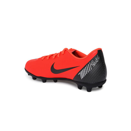 Nike Kids Red Solid VAPOR 12 CLUB GS CR7 FG/MG Football Shoes