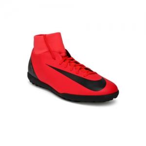 Nike Kids Red SUPERFLY 6 CLUB CR7 TF Junior Football Shoes