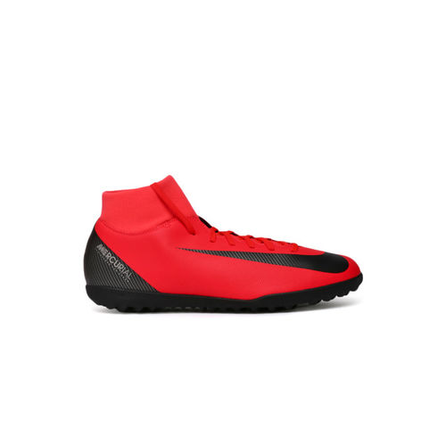 Nike Kids Red SUPERFLY 6 CLUB CR7 TF Junior Football Shoes