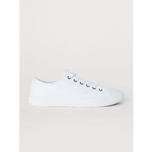Buy H\u0026M Men White Canvas shoes online
