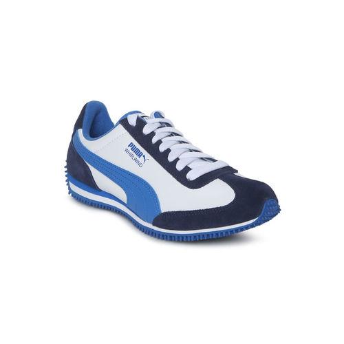 Puma Kids White Whirlwind L Jr Running Shoes