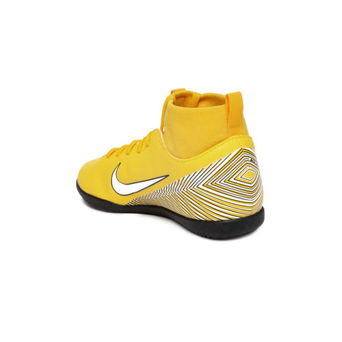 Nike Kids Yellow Neymar SuperflyX 6 Club IC Football Shoes