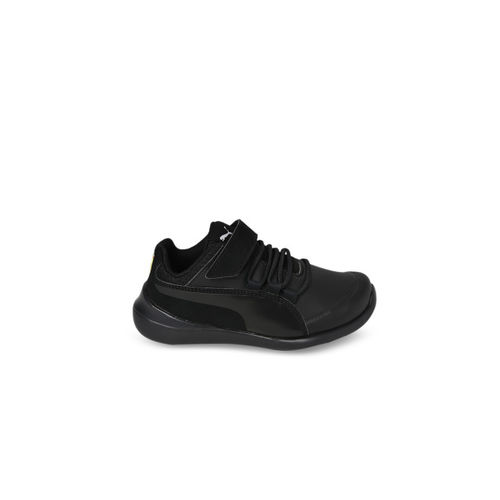 Puma Boys Black SF Evo Cat V PS Running Shoes