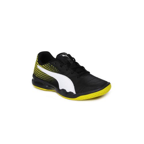Puma Boys Black Badminton Shoes