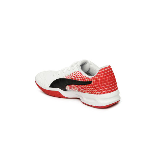 Puma Boys White Badminton Shoes