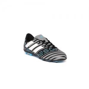 ADIDAS Boys Grey & Black Nemeziz Messi 17.4 FXG J Striped Football Shoes