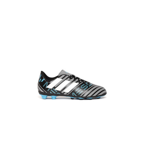 ADIDAS Boys Grey & Black Nemeziz Messi 17.4 FXG J Striped Football Shoes