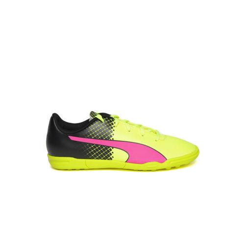 puma pink fluorescent green shoes