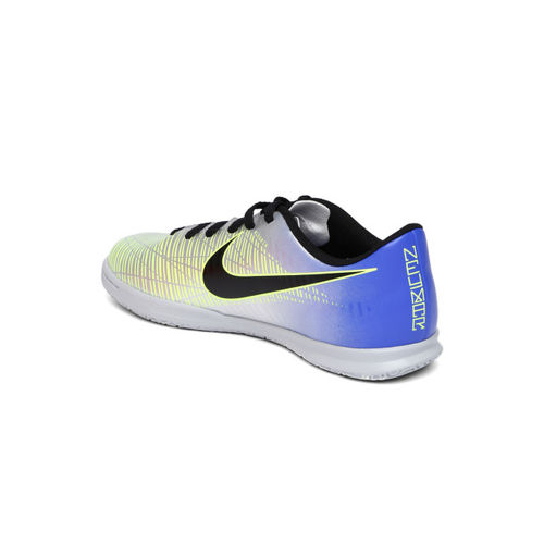 Nike Kids Silver-Toned MERCURIALX VRTX III neymar indoor court Football Shoes