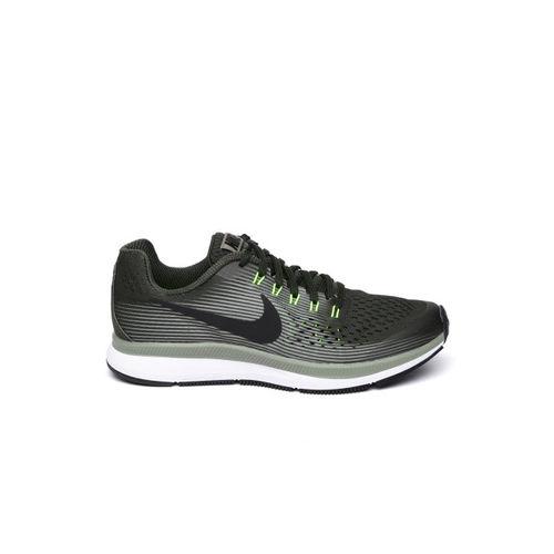 Nike Boys Olive Green ZOOM PEGASUS 34 Running Shoes