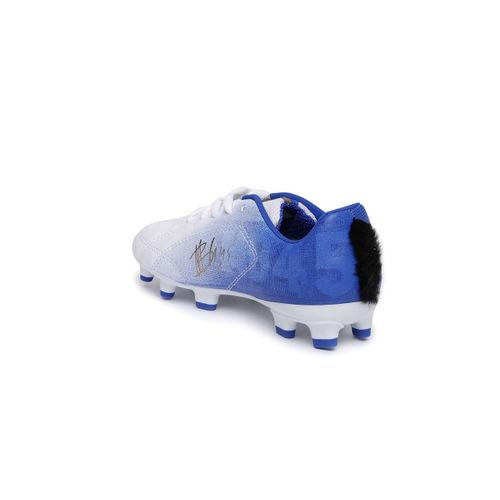 Puma Unisex White MB 9 FG Jr Football Shoes