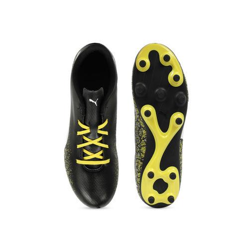 Puma Boys Black Truora FG Jr Football Shoes