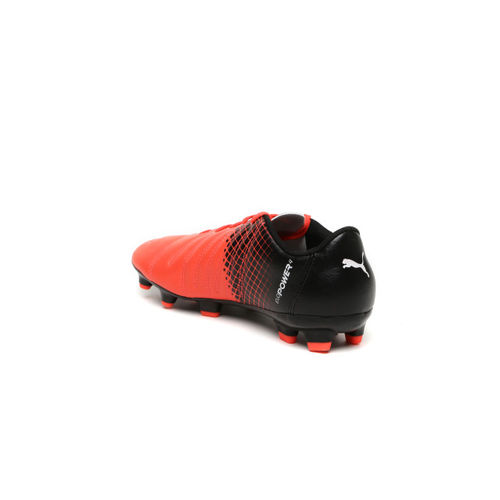 PUMA Boys Orange & Black Evopower 4.3 Colourblocked Football Shoes