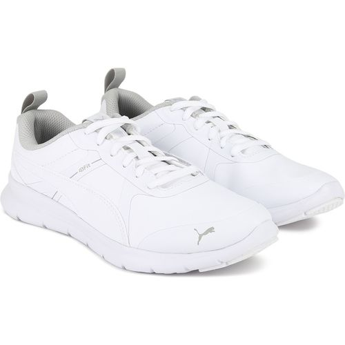 Puma Boys Lace Running Shoes(White)