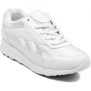 Asian Boys Lace Walking Shoes(White)