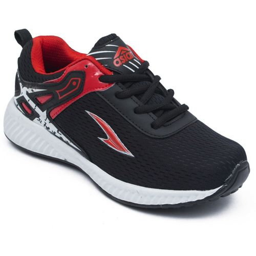 Asian Boys Lace Running Shoes(Black)