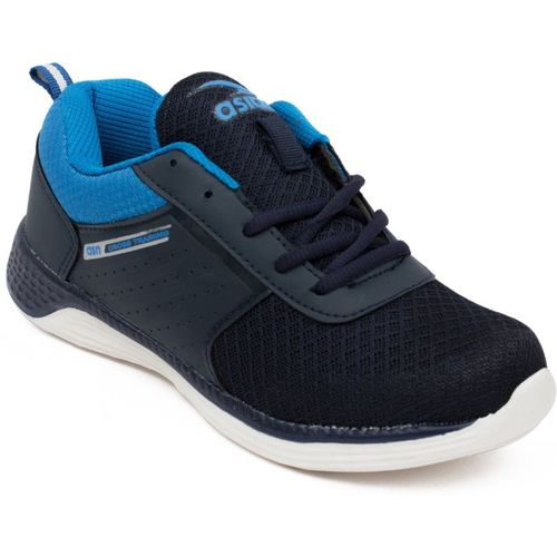 Asian Boys Lace Running Shoes(Dark Blue)
