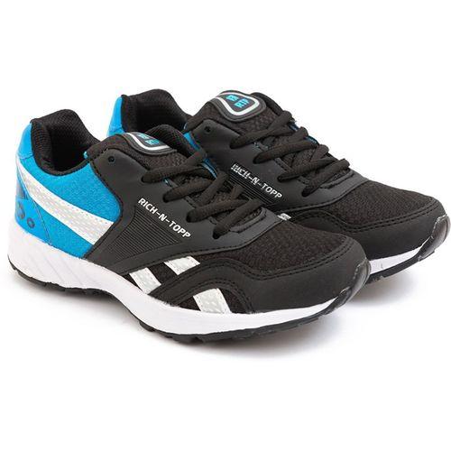 Rich N Topp Boys Lace Running Shoes(Black)