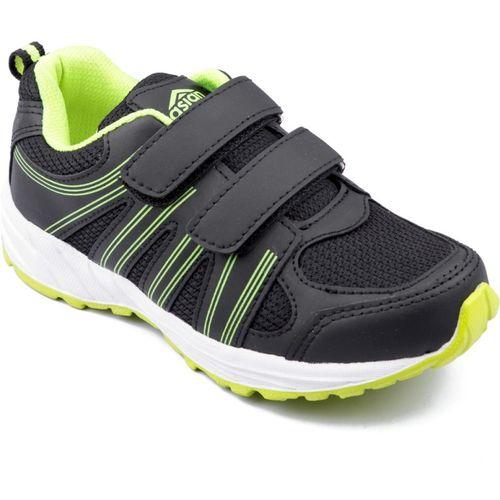 Asian Boys Velcro Running Shoes(Black)